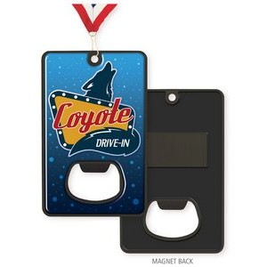 Vibraprint� Black Nickel Bottle Opener Medallion (3-1/4'' x 2