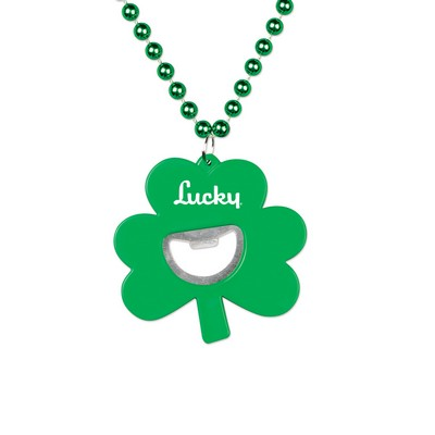 Shamrock Bottle Opener Medallion