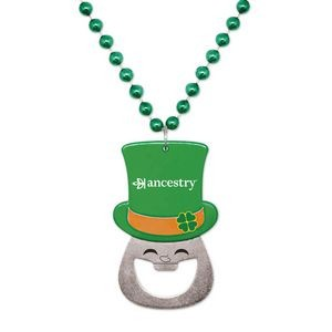 Leprechaun Bottle Opener Medallion Beads