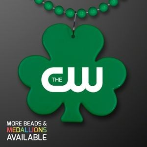 Shamrock Medallion with Beaded Necklace (Non Light Up) - Domestic Print